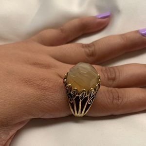 Lucky brand 🍀 yellow gold tone ring